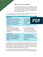 Backgrounder - Governance as Leadership