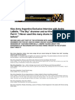 ANDRE LABELLE Kiss Army Argentina Interview - English version - Part 2