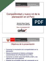02-12-11 Competitividad y nuevo rol de la planeación en el Perú