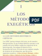 LOS MÉTODOS EXEGÉTICOS