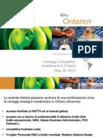 Ontario Presentation - Investing in Ontario (Italian)