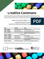 Creative Commons - Melbourne seminar - Program