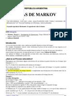Cadenas Markov