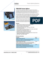 Afl Fsm-60s Splicer spec sheet
