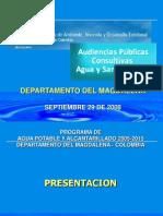 Plan de Aguas Del Magdalena-Audiencia Publica