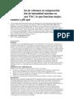 Interpretación de volumen en comparación con proyección de intensidad máxima en angiografía por TAC