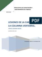 Lesiones de La Cabeza y La Columna Vertebral