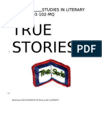 Fall 2012 True Stories Manual June 18