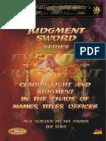 Judgment Sword Series Part 1