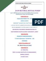 Analysis of Sectoral Mutual Funds (Haresh Variya)