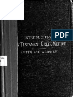 An Introductory New Testament Greek Method. Together With a Manual, Containing Text and Vocabulary of Gospel of John- Harper 1897