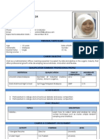 Personal Particulars Resume