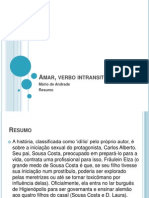 Literatura Amar Verbo Intransitivo Analise 3