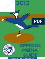 2012 Bluefield Blue Jays Media Guide