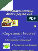 0formatarea Textului Dintr-o Pagina Web