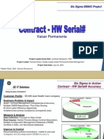 Kaiser Permanente Six Sigma Case Study