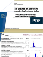 Print Server Availability Six Sigma Case Study