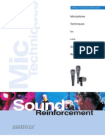 Shure - Microphone Techniques for Live Sound Reinforcement
