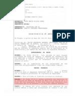 Sentencia  por sanción de abandono de puesto de trabajo de un v.s.