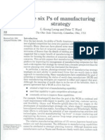 6 Ps of Manufacturing