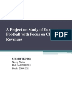 A Project on Study of European Football With