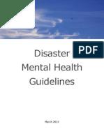 Disaster  Mental Health  Guidelines