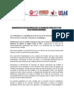 Manifiesto Concentraciones Regionales SESCAM