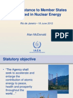 IAEA Assistance to Member States Interested in Nuclear Energy