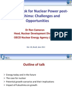 The Outlook for Nuclear Power Post Fukushima