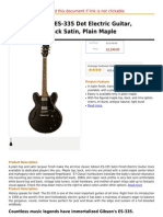 Gibson Custom ES-335 Dot Electric Guitar, Transparent Black Satin, Plain Maple