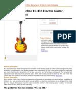 Gibson Larry Carlton ES-335 Electric Guitar, Vintage Sunburst