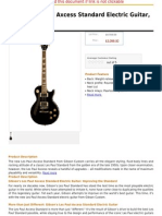 Gibson Les Paul Axcess Standard Electric Guitar, Stopbar, Ebony