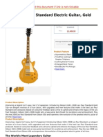 Gibson Les Paul Standard Electric Guitar, Gold Top