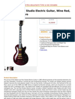 Gibson Les Paul Studio Electric Guitar, Wine Red, Chrome Hardware