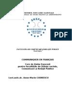 Anne Marie Codrescu - Communiquer en Francais - Curs SNSPA