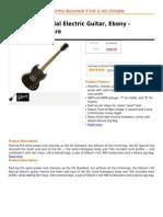 Gibson SG Special Electric Guitar, Ebony - Chrome Hardware