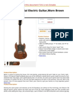 Gibson SG Special Electric Guitar,Worn Brown Satin