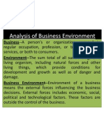 Analysis of Business Environment Ppt