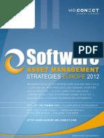 Software Asset Management Strategies Europe 2012_agenda