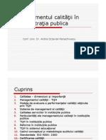 Managementul Calitatii in AP