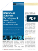 Scrapheap Software Development - Lessons from an Experiment on Opportunistic Reuse