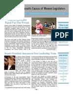 Massachusetts Caucus of Women Legislators Newsletter Spring 2012