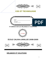 TP Melanges Et Solutions