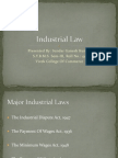 Indian Industrial Law 4 Major Laws Industrial Dispute Act Payment of Wages Act Minimum WagesAct Gratuity Act