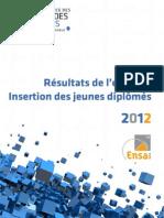 Résultats de l'enquête insertion jeunes diplômés juin 2012