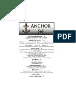 2012 Anchor Pub Menu
