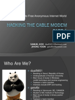 Hacking the Cable Modem