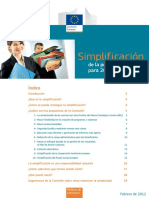 Simplificación de la política de cohesión para 2014-2020(Es)/ Simplification of the cohesion policy for 2014-2020(Spanish)/ Kohesio politikaren sinplifikazioa 2014-2020-rako(Es)