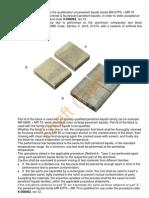 DP Qualif Procedure by Using Crack Test Block