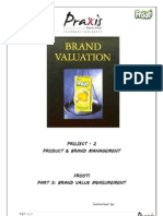 Frooti - Brand Valuation
